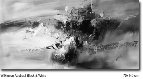 Wilkinson Abstract Black & White 70x140