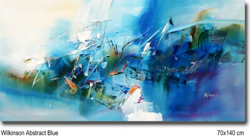 Wilkinson Abstract Blue 70x140