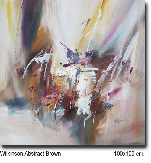 Wilkinson Abstract brown 100x100