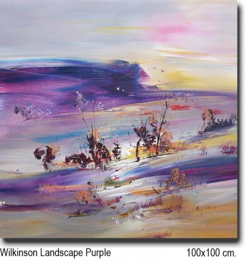 Wilkinson Landscape Purple 100x100
