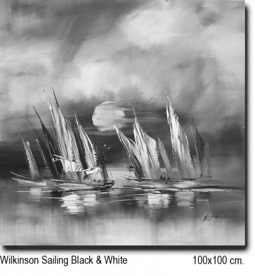 Wilkinson Sailing Black & White 100x100