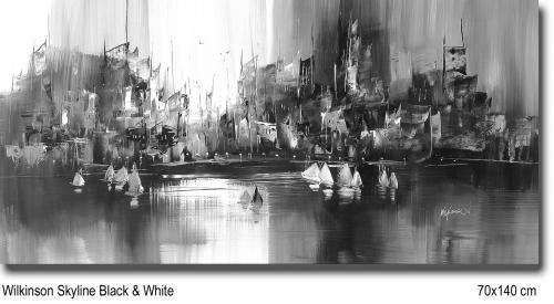 Wilkinson Skyline Black & White 70x140
